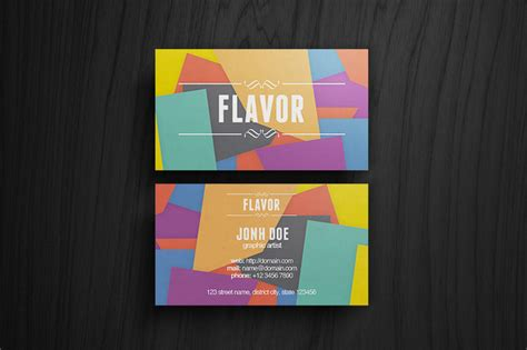 design cue card 50 best free psd business card templates