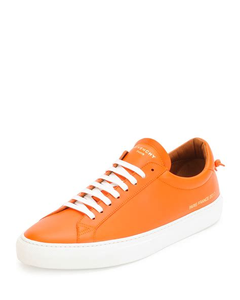 orange sneakers mens givenchy orange low top sneakers for lyst