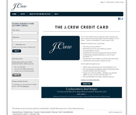 make credit card payments j crew credit card login make a payment