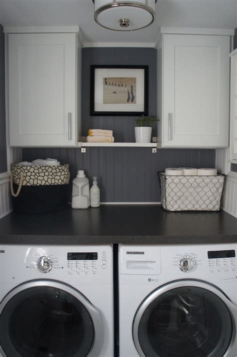 Laundry Room Ideas | home with baxter house tour week 5 half bath laundry