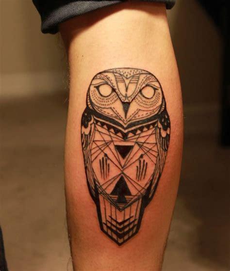 owl tattoo calf owl tattoo on calf