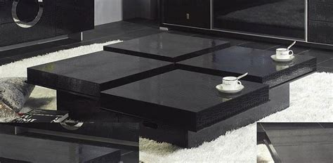 modern crocodile black coffee table 8879a black design co