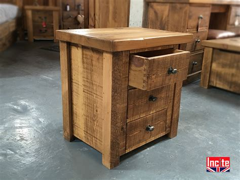 Handmade Pine Furniture - bespoke handcrafted plank pine bedside cabinets by incite