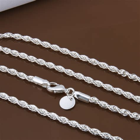 chains for jewelry wholesale aliexpress buy wholesale price 16 24 inch 3 mm