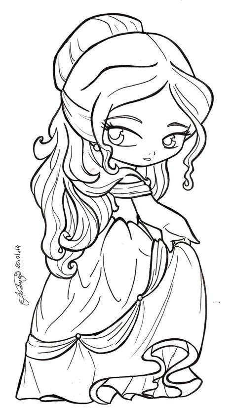 Chibi Princess Belle Coloring Pages Pictures To Pin On Chibi Disney Princesses Coloring Pages Free Coloring Sheets