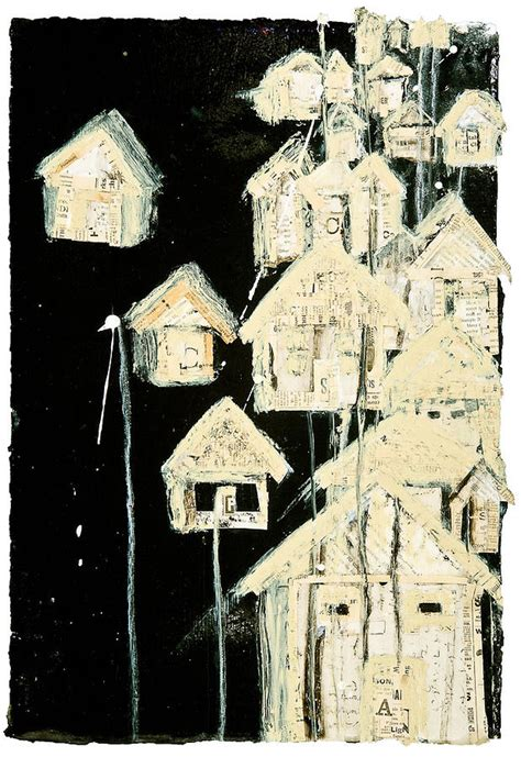 tar paper house tar paper houses ii mixed media by regina thomas
