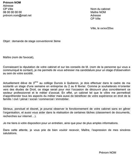 Lettre De Motivation Stage Cabinet D Avocat by Stage D Observation 3 232 Me Avocat Objectif Emploi Orientation