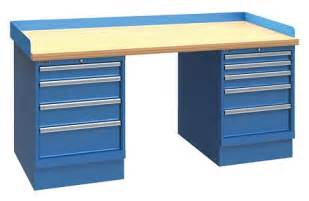 industrial workbench with 4 drawers and 5 drawers