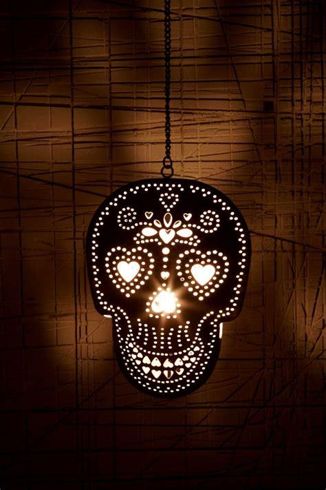 Skull Lights by Skull Tea Light Candle Holder Dia De Los Muertos
