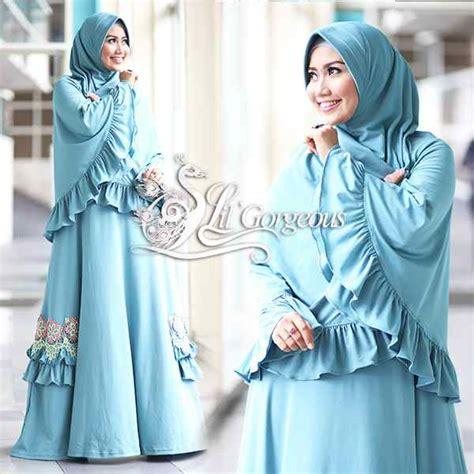 Terlaris Gamis Syari Nadira Tosca Baju Gamis fidha 2 hijau tosca muda baju muslim gamis modern