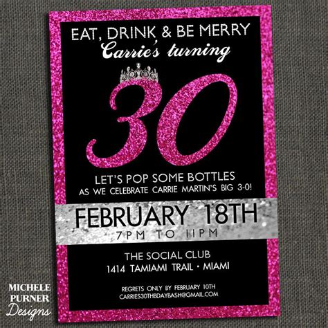 30th Birthday Invitation Template blank 30th birthday invitations printable templates free