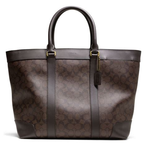 Coach Htons Weekend Patchwork Tote by Lyst Coach Bleecker Signature Weekend Tote In Brown