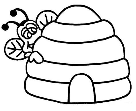 hive template beehive template clipart best