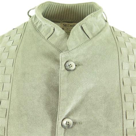 St Denim Jaket Tutu Ab vintage 60s croix wool gray suede panel jacket mens m the clothing vault