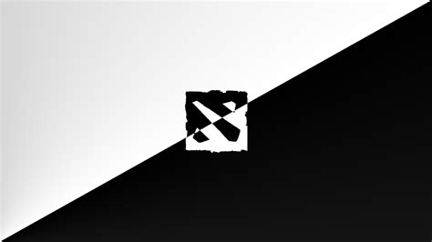wallpaper dota 2 black dota 2 logo black and white www imgkid com the image