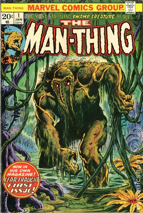 the thing marvel comic book man thing 1974 1st series comic books