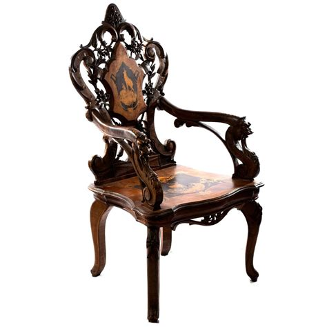 forest armchair elaborately carved black forest armchair with hidden