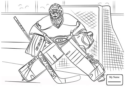 coloring pictures of hockey goalies hockey coloring pages nhl coloring pages designs