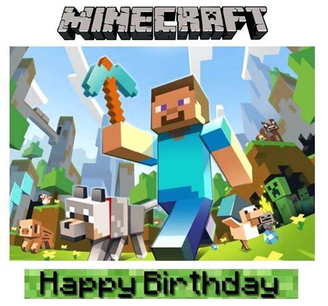 minecraft happy birthday card template printable minecraft printable happy birthday card