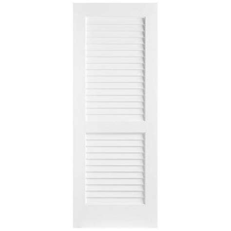 Interior Louvered Doors Home Depot by Masonite 24 In X 80 In Plantation Smooth Full Louver
