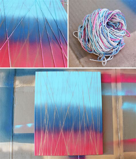 Ombre String - home is where the is 4 simple ways to make spray