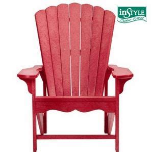 home hardware red recycled plastic adirondack chair