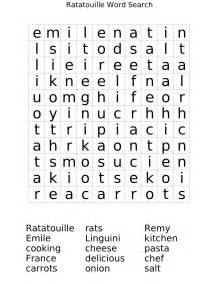ratatouille word search worksheet free math worksheets