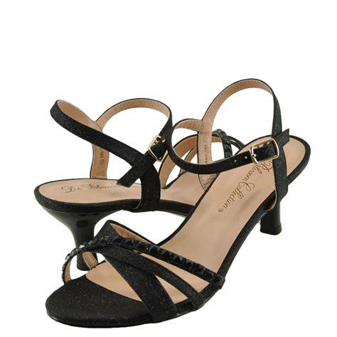 s shoes blossom berk 160 embellished low heel dress sandals black new ebay