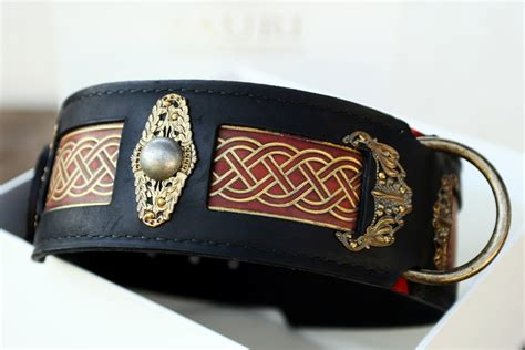 unique collars seraphim unique leather collar for large breeds harakhan kennel