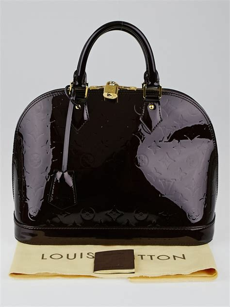 louis vuitton amarante monogram vernis alma pm bag yoogi