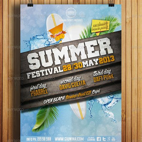 summer festival flyer vol  giunina graphicriver
