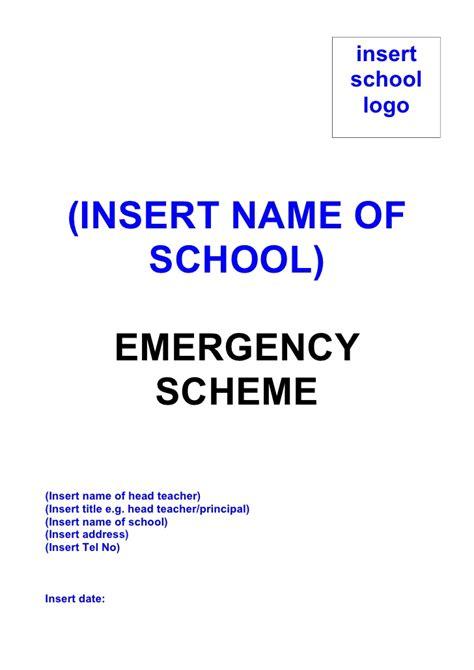 emergency plan template for schools school emergency plan template