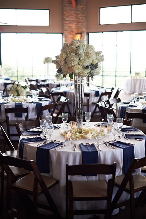 Tall White Rose and Hydrangea Centerpiece   Silver Vase