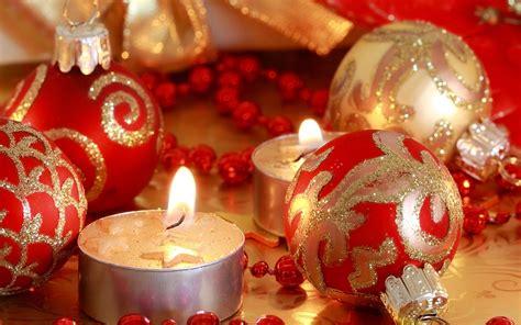 imagenes de navidad y videos fondo de pantalla velas de navidad bolas rojas hd