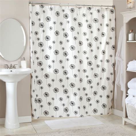 black bathroom curtains black and white shower curtain black and white bathroom