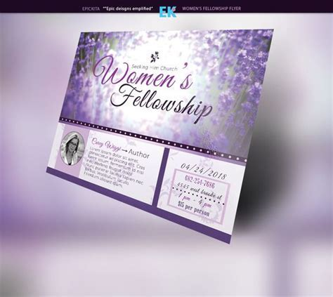 Women's Fellowship Flyer Template by Epickita on