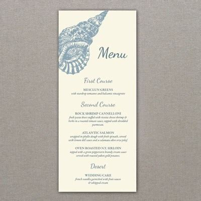 menu template sea shell design download amp print
