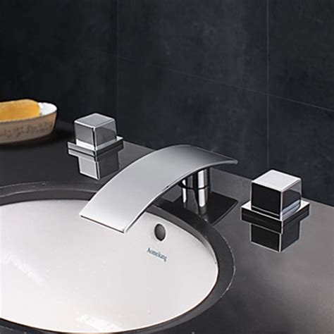 designer faucets bathroom contemporary designer spout waterfall bathroom faucet