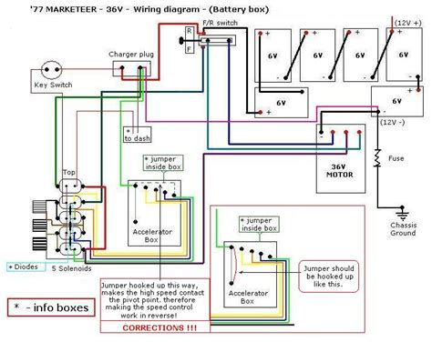 cartaholics golf cart forum gt marketeer wiring diagram with shunt