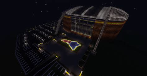 minecraft sports stadium gillette stadium in sport city minecraft project