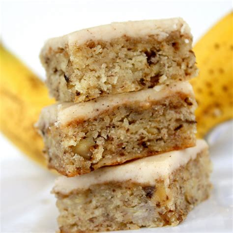 Monkey Squares Banana Bread Bars