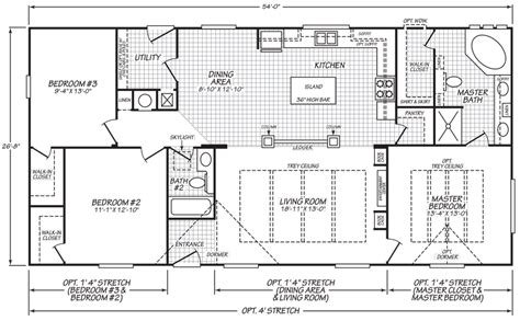 model bedroom bath floor plans bestofhouse net 32755 rocklin 28 x 54 1439 sqft mobile home factory expo home