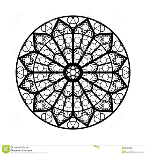 rose window coloring page coloring pages