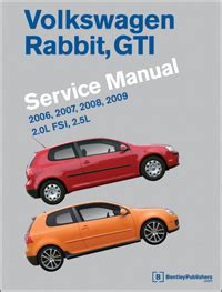 car repair manuals online free 2007 volkswagen rabbit seat position control volkswagen rabbit gti a5 repair manual 2006 2009 bentley publishers repair manuals and
