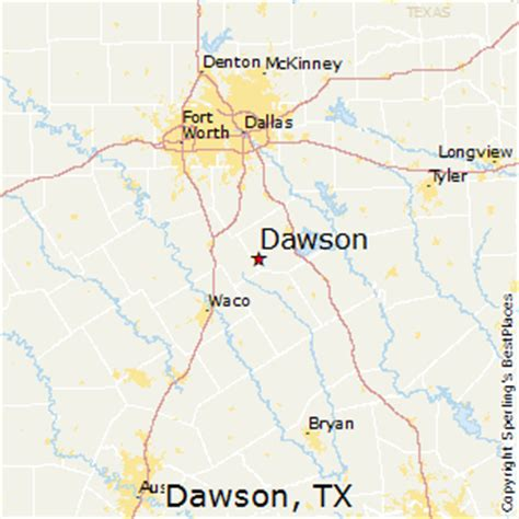 dawson county texas map best places to live in dawson texas
