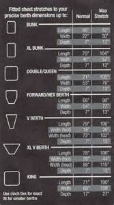 rv mattress dimensions boat bed size chart
