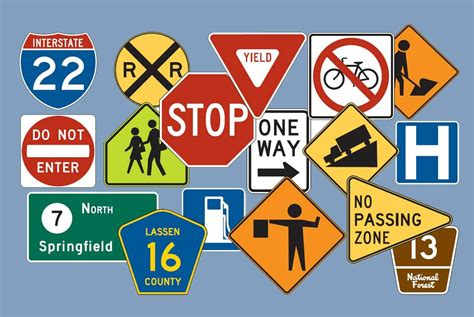 road sign colors shapes and colors of traffic signs free dmv test