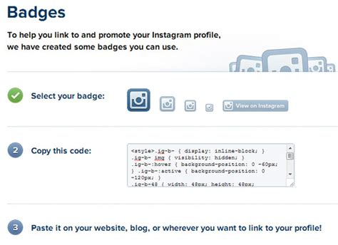 membuat badge instagram how to add your instagram link images how to guide and