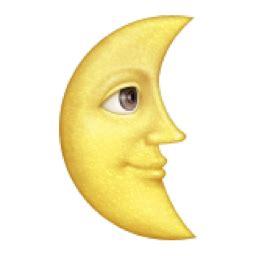 iphone emoji moon faces last quarter moon with face emoji u 1f31c