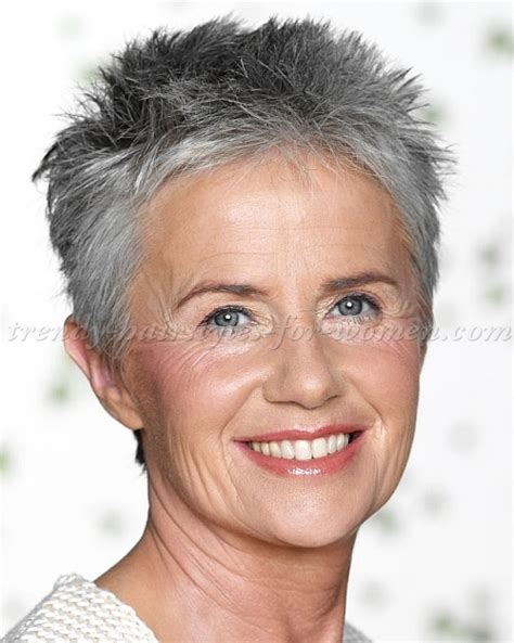 spiky short hairstyles for women over 50 short hairstyles over 50 short spiky hairstyle silver